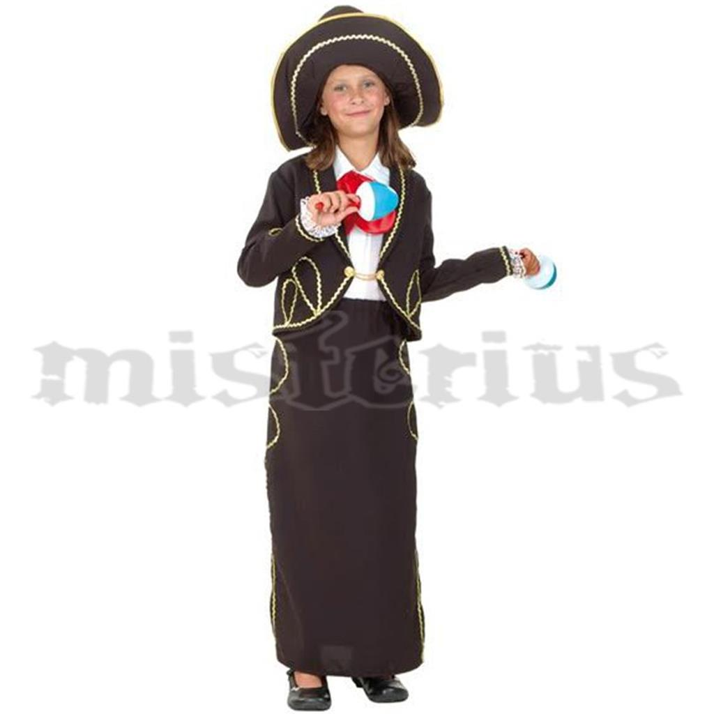 Fato Mexicana Preto, criança