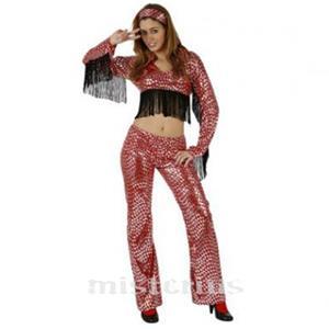 Fato Mulher Disco Vermelho
