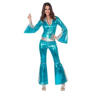 Fato Mulher Disco Azul