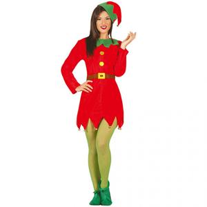Fato Mulher Elfo Vermelho