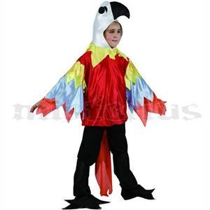 Fato Papagaio Multicor, criança