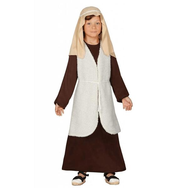 Fato Pastor Hebreu Criança - Castanho