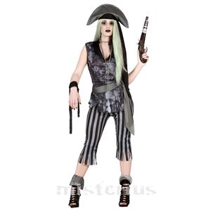 Fato Pirata Fantasma Mulher