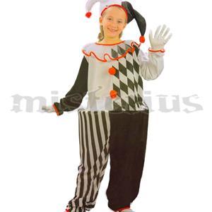Fato Pierrot Preto e Branco, Criança