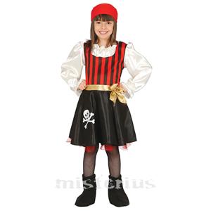 Fato Pirata Caveira, Menina
