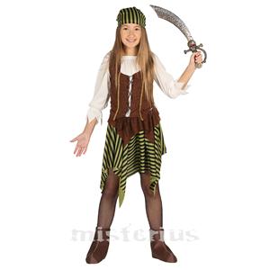 Fato Pirata Marron, criança