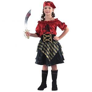 Fato Pirata Vermelha, Criança