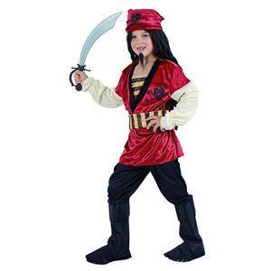 Fato Pirata Vermelho, criança
