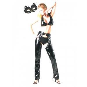 Fatos Gata Mulher com calça adulto - Cat Woman
