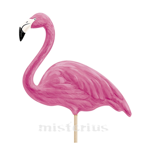 Flamingo Toppers Cupcake, 6 unid