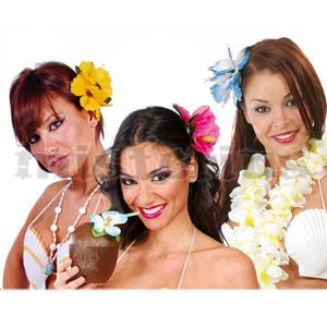 Flor Havaiana com Gancho Cabelo