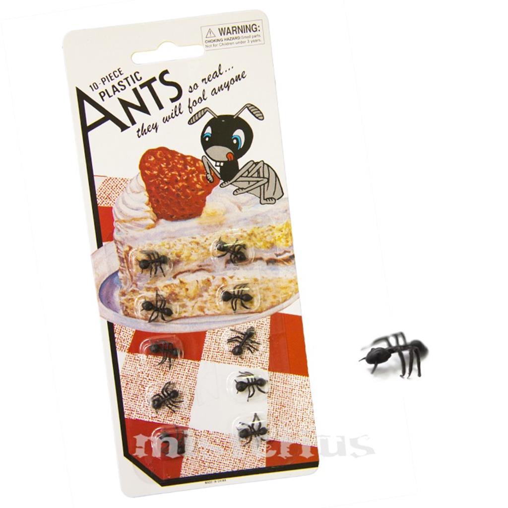 Formigas em Plástico, 1Cm, Pack 10 Unid.