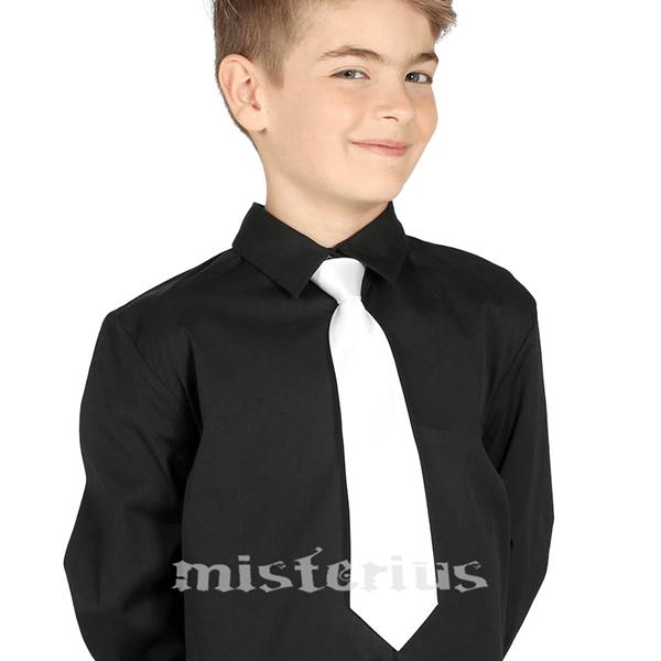 Gravata Branca Criança, 30 cm