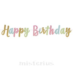 Grinalda Glitter Happy Birthday