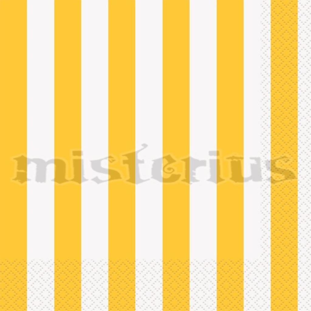 Guardanapos Amarelos Riscas, 16Unid.