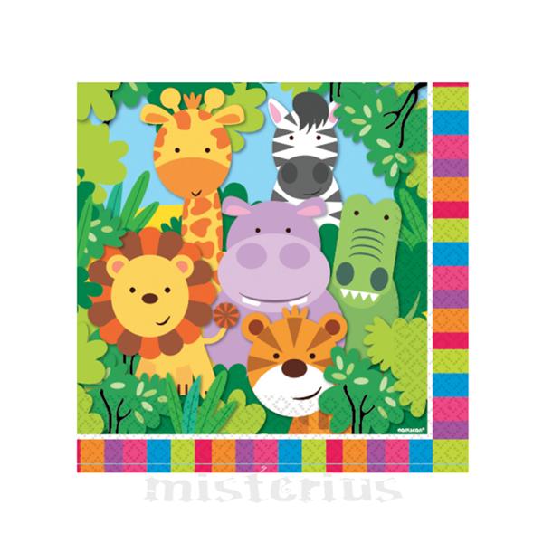 Guardanapos Animais da Selva, 20 Unid.