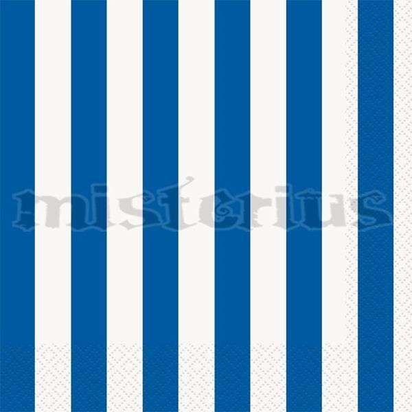 Guardanapos Azul Escuro Riscas, 16Unid.