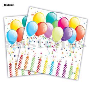 Guardanapos Happy Birthday, 16 unid.