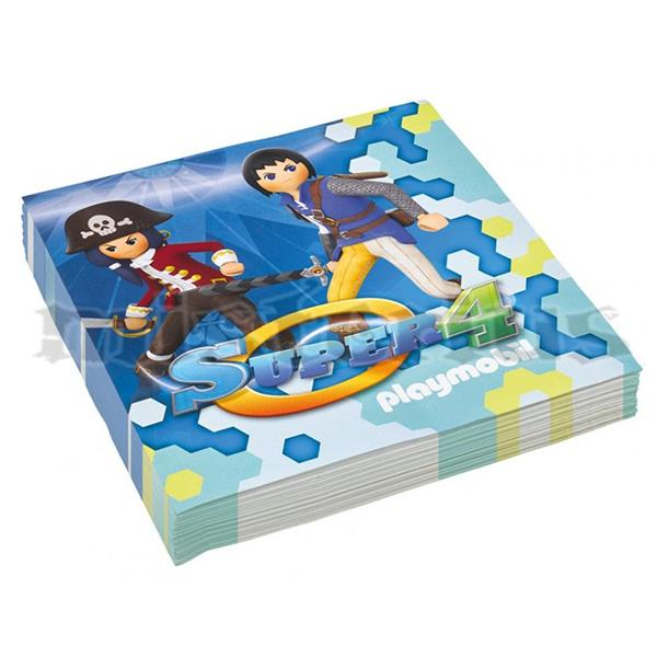 Guardanapos Playmobil Super 4, 20 Unid.