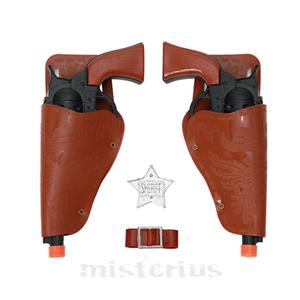Kit 2 Pistolas Cowboy, Preto