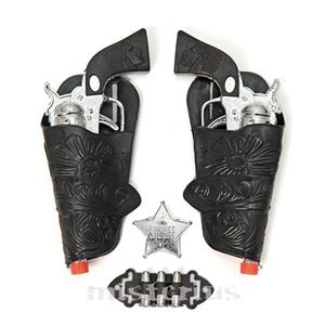 Kit 2 Pistolas Cowboy, Prateado
