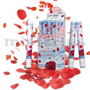 Tubo Lança Confetis Pétalas Vermelhas, 50 cm