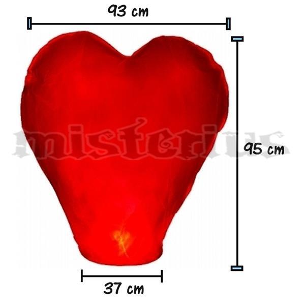 Lanterna do Amor em Coração - Sky Lantern