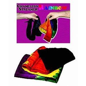 Lenço camalião arcoIris, Chameleon Rainbow Silk Streamer