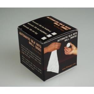 Lenço em bola branca automatico - Automatic Sik Ball