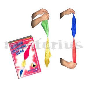 Lenço Muda de cor 4 Cores 30 Cm - Lenço Camaleão