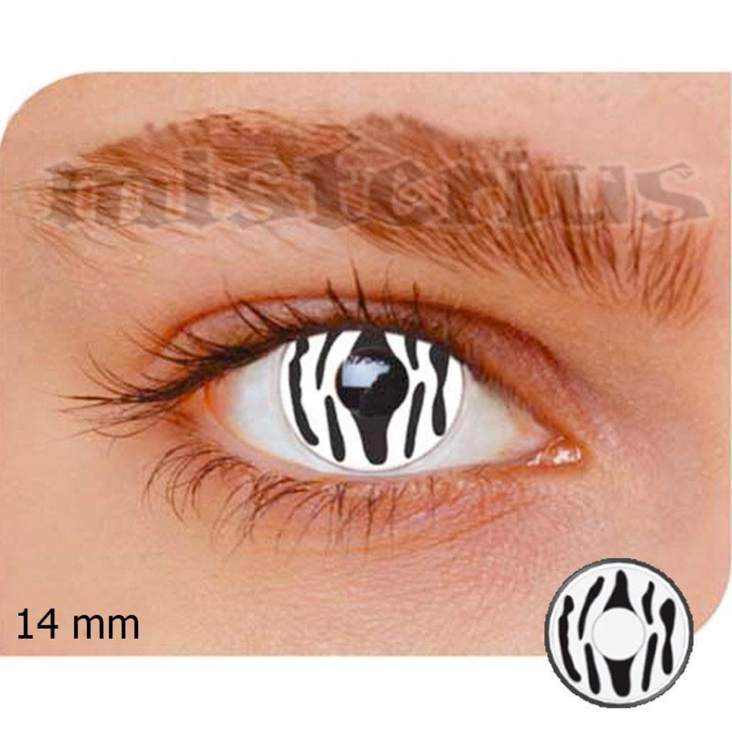 Lentes Efeito Especiais Zebra