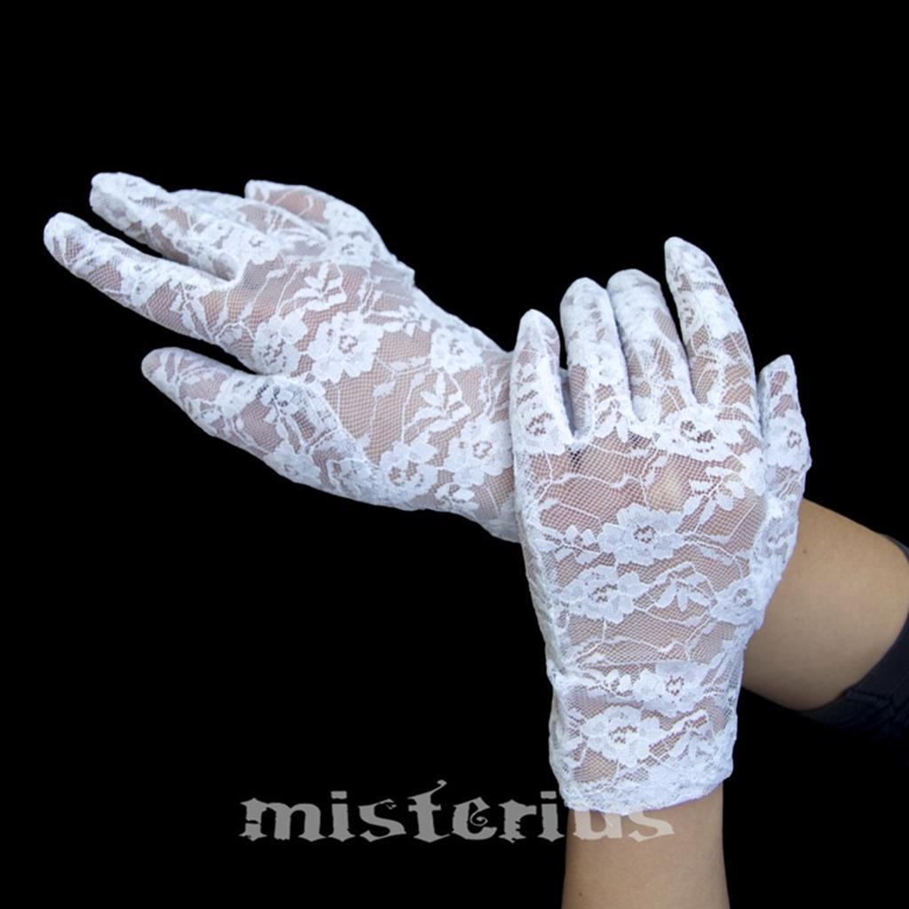 Luvas de Renda Brancas, 20 cm