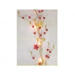 Luzes Natal 35 Lâmpadas Flores 200cm