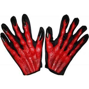 Mãos de Monstro Vermelho Preto 22Cm