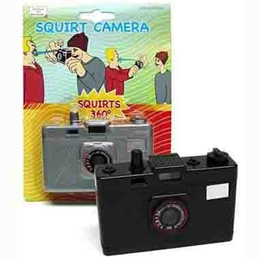 Máquina fotográfica que esguicha água
