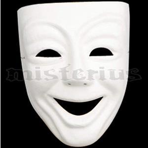 Máscara Branca Expressão Riso