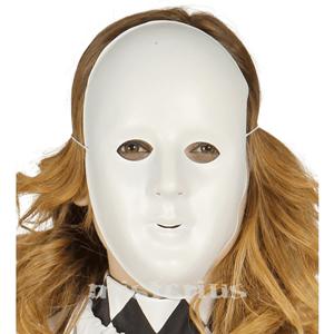 Máscara Branca Plástico