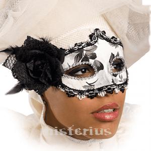Máscara Branca Rosa Preta