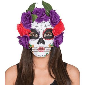 Máscara Catrina com Flores