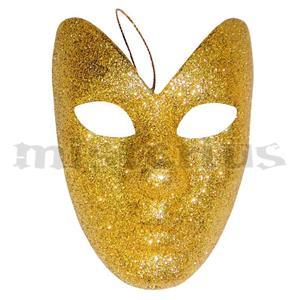 Máscara Dourada de Pendurar