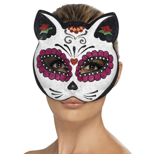 Máscara Gato Caveira Mexicana