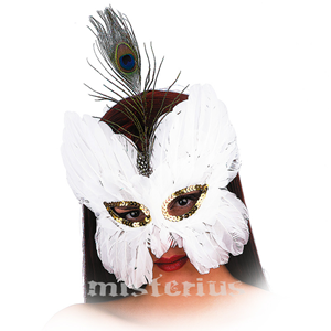 Máscara penas Brancas