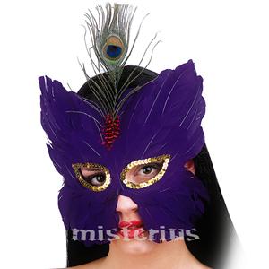 Máscara Penas Roxa