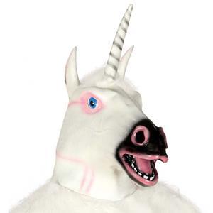 Máscara Unicórnio Branco