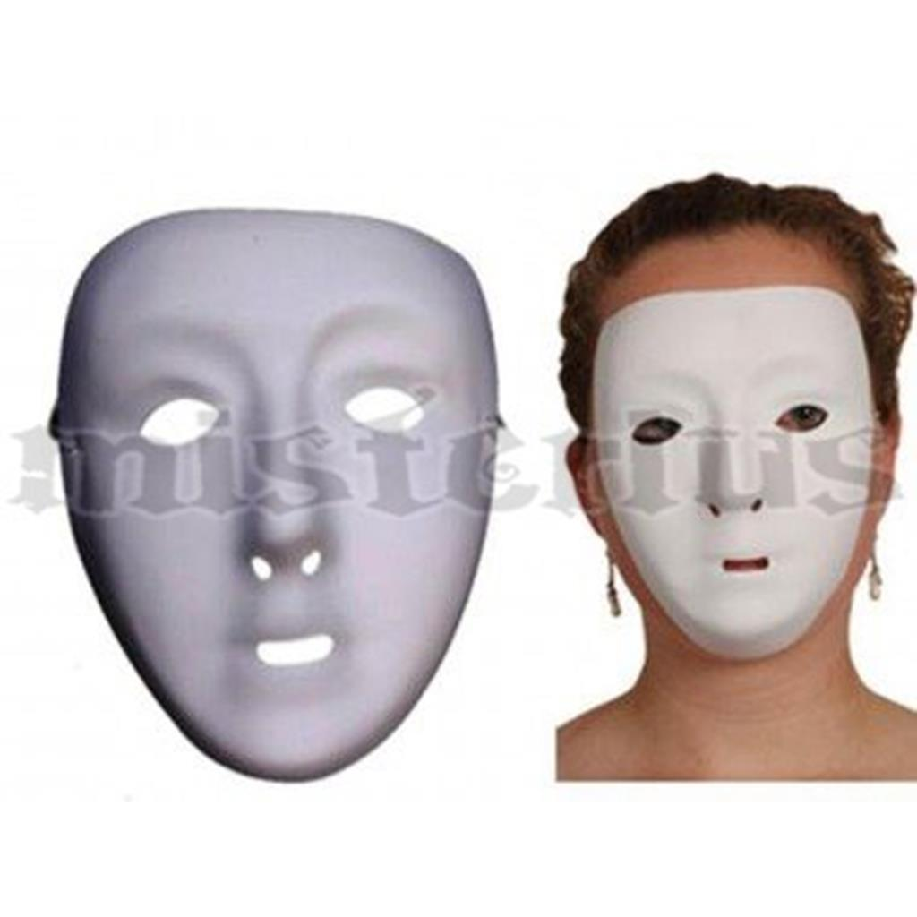 Máscara Branca em plástico para Pintar