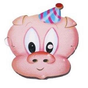 Máscara Porco (Porquinho) Cartolina