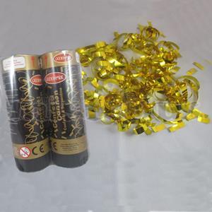 Mini lançador Confetis Dourado 11 cm , 2 Unid.