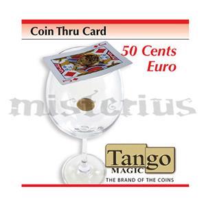 Moeda de 50 cent euros que atravessa a carta ,  Coin thru ca