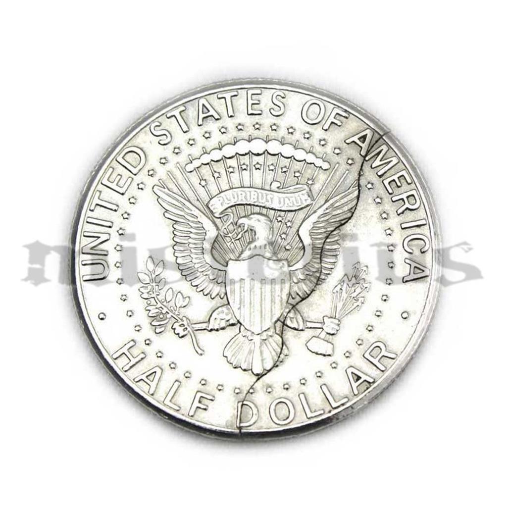 Moeda Mordida - Bite out half dollar coin ;