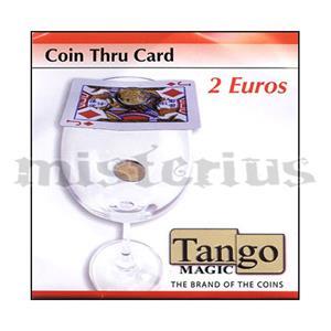 Moeda que atravessa a carta 2 euros Tango - Coin thru card